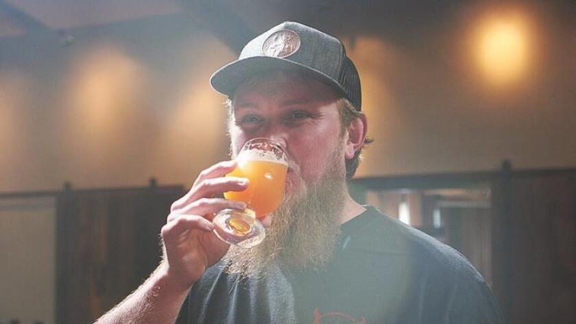 Kris Ketcham of Stone Brewing Co. drinking Call It What You Want (Liz Bowen)