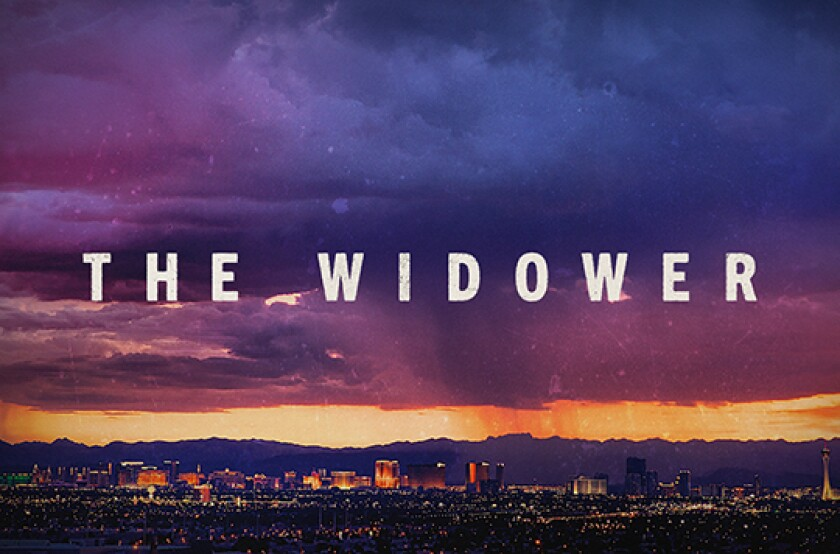 """This image released by NBC shows key art for the docuseries """"The Widower."""" """"Dateline NBC"""" is stretching its true crime franchise into a multi-part series. """"The Widower"""" is about a Las Vegas man who had four of his wives die under mysterious circumstances. It will debut on Feb. 18 and unfurl over five hours on three different nights. (NBC via AP)"""