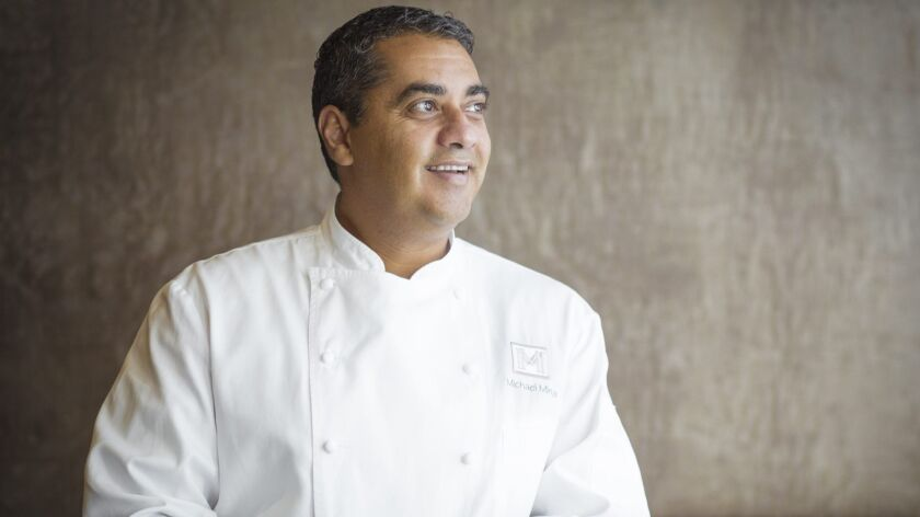 San Francisco celebrity chef Michael Mina helms a restaurant group with locations from San Francisco, Seattle, Las Vegas, the United Arab Emirates and, soon, San Diego