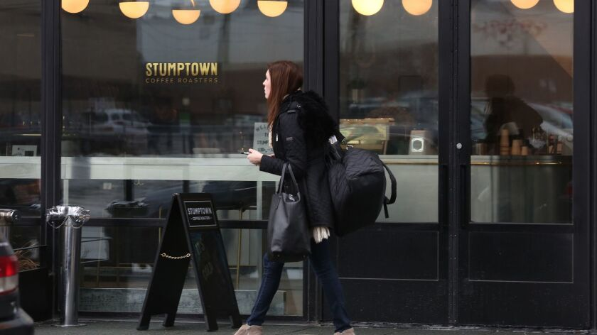 Stumptown Coffee Roasters opened in December in the Ace Hotel in Chicago's West Loop, across from Google headquarters.