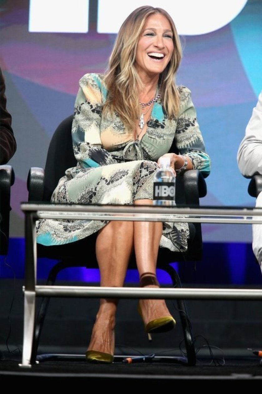 """Sarah Jessica Parker speaks July 30 during the """"Divorce"""" panel discussion at the HBO portion of the 2016 Television Critics Assn. Summer Tour at the Beverly Hilton."""