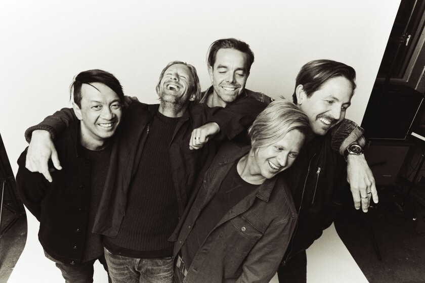 """Music feels much more powerful and necessary than ever,"" says Switchfoot leader Jon Foreman, show above with the band at second from left. On June 7, Switchfoot will perform a drive-in concert at Petco Park. It is set to be the first public concert in San Diego since the coronavirus pandemic shutdown restrictions were implemented in mid-March."