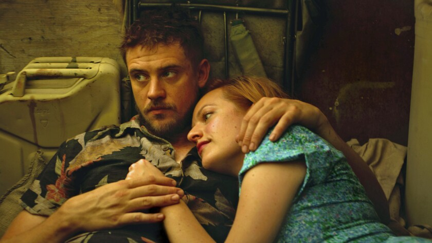 "Boyd Holbrook and Elisabeth Moss in ""The Free World."""