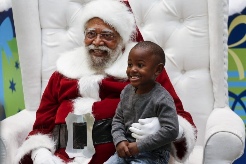 Langston Patterson, a black Santa