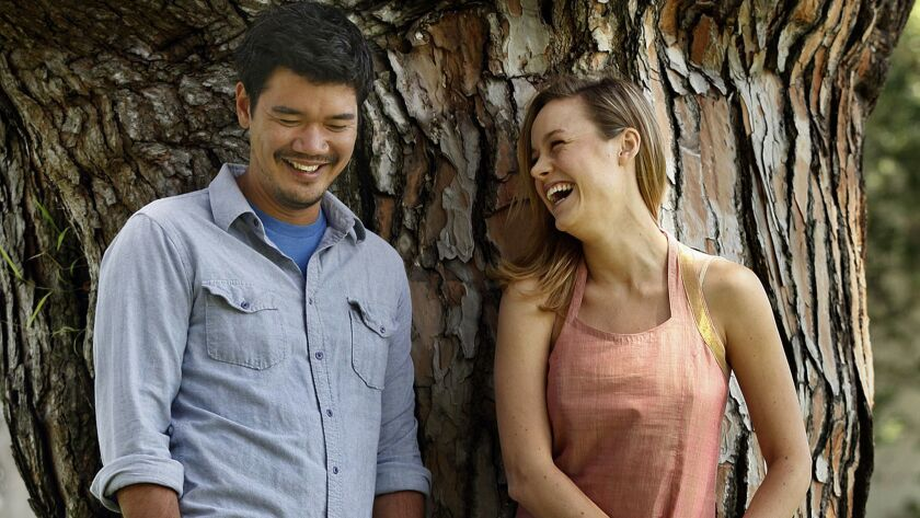 "Director Destin Daniel Cretton, who will helm Marvel's ""Shang-Chi,"" with actress Brie Larson in 2013. The pair worked together on the film ""Short Term 12."""