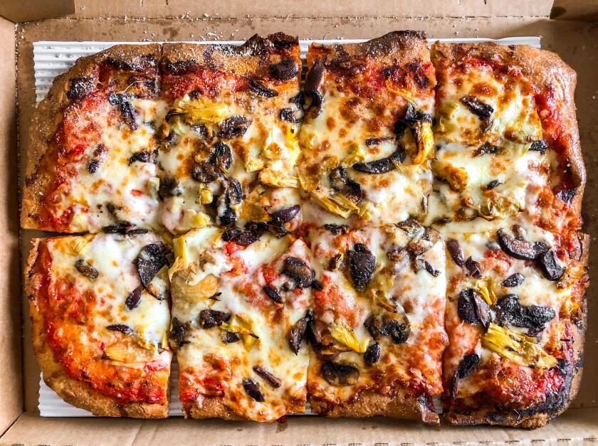 Veggie focaccia pizza from Antico.