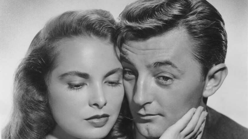 """Janet Leigh and Robert Mitchum in """"Holiday Affair."""""""