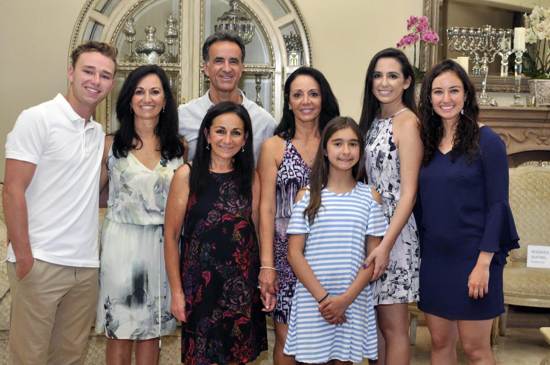Jacob Church, host Linda Church, David Perez, Debbie Church, Ruth Tumini, Sareena Perez, Bella Tumini, Nina Church