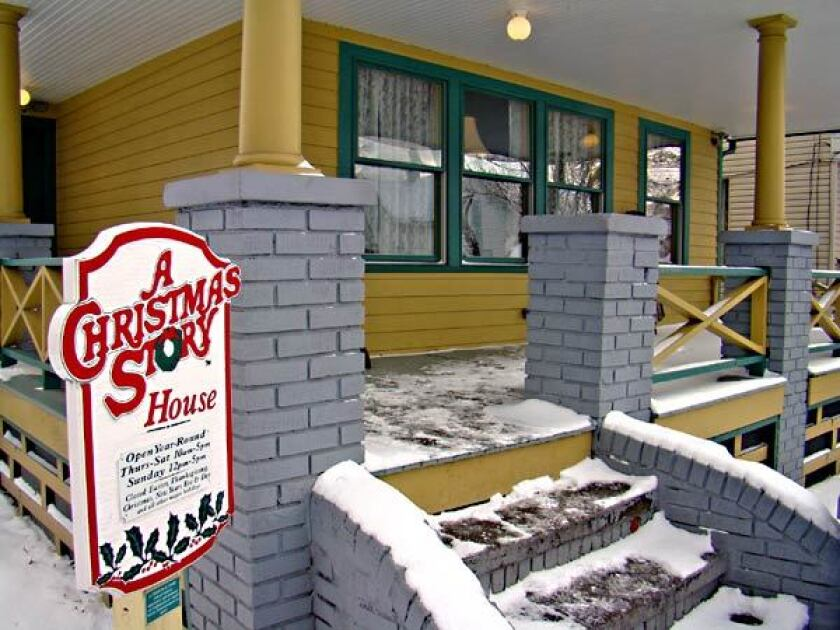 A Christmas Story Kid In Snowsuit.A Christmas Story House Museum In Cleveland Has Ian