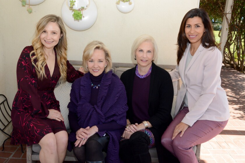 Art of Fashion Co-Chair Erika Fetter, 2019 Honoree Andrea Naversen, The Country Friends President Suzanne Newman, and Art of Fashion Co-Chair Elaine Kaminski Becerra