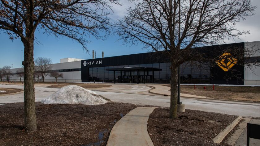 Rivian Automotive has set up shop in the former Mitsubishi plant in Normal, Ill., giving residents hope the mothballed factory — which once had 3,600 workers — could soon be a major employer again.