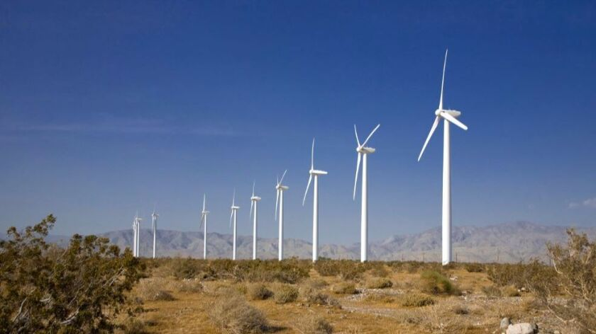 A U.S. District Court judge has ruled in favor of developers of the second phase of the Tule Wind Project in San Diego's East County. The project is led by Avangrid Renewables. Pictured is a similar Avangrid wind farm, the Dillon Wind Power Project in Riverside County.