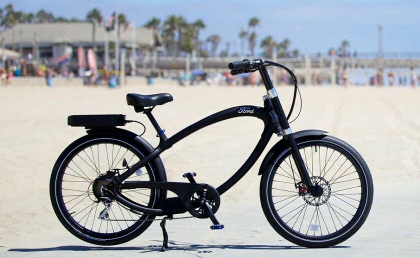 Ford Motor Co. has entered into a licensing agreement with California-based electric bike company Pedego. The result: A $3,695 Super Cruiser that can go 20 miles on a single charge, at up to 20 mph.