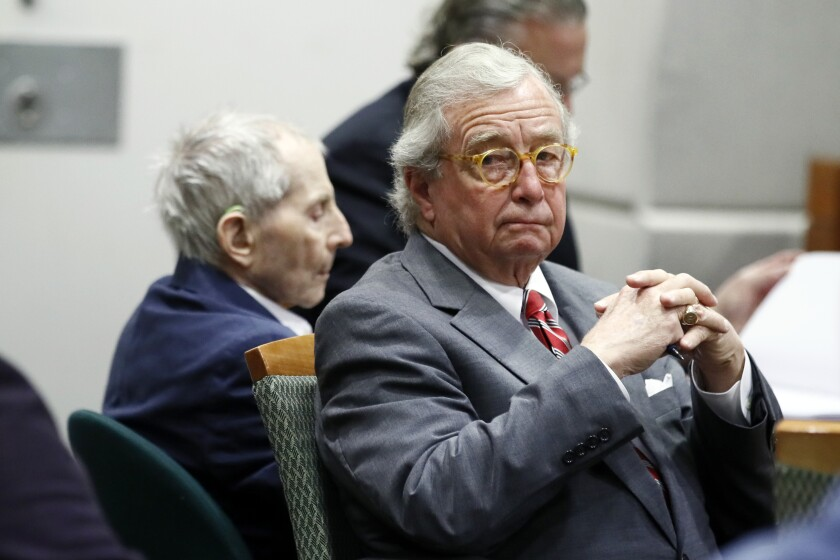 Defense attorney Dick DeGuerin, right, and Robert Durst.