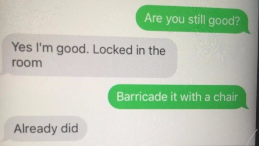 Text message exchange between Curt Hagman and son Jonathan