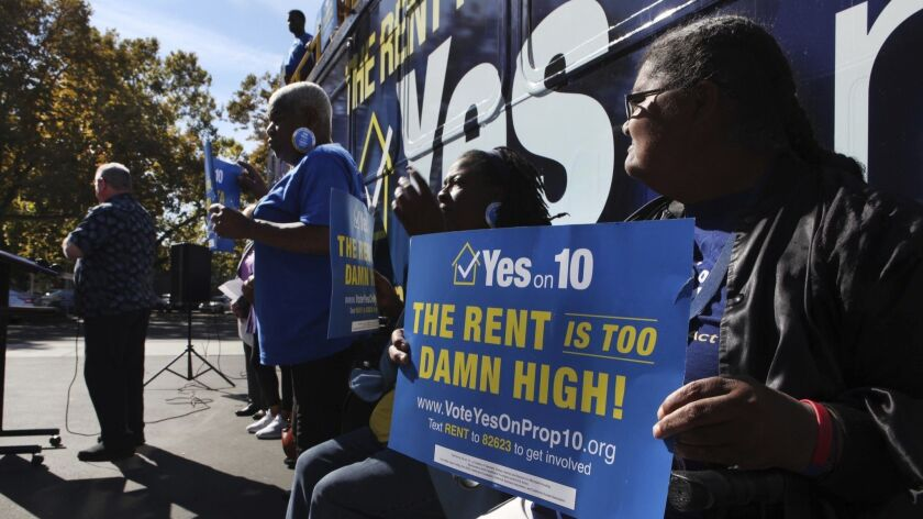 California's rent control initiative was crushed in the election