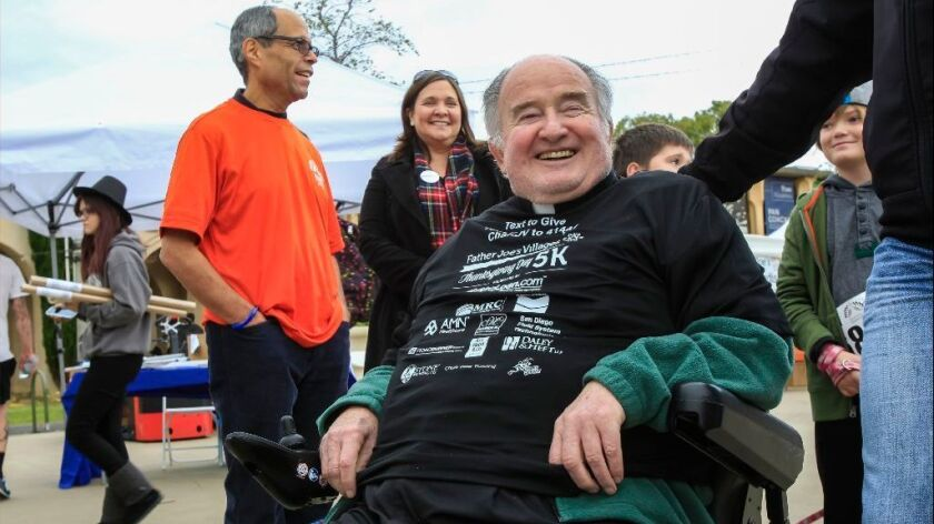Father Joe Carroll is shown at the Father Joe's Villages Thanksgiving Day 5K in 2015.