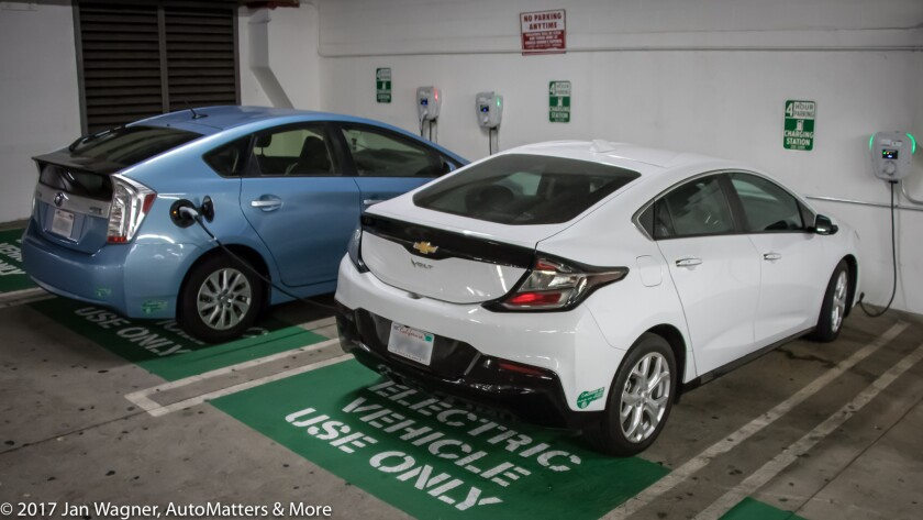 PHEV Prius and Volt charging