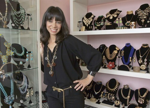 Jill Garland, shown at her V Vintage jewelry-only store in Beverly Hills, co-owns the Porta Via restaurant in Beverly Hills and has been collecting vintage costume jewelry and clutches since she worked behind the jewelry counter at Barneys New York seven years ago. Also in Image • Runway looks for the playground set • Essentials: fanny packs • Los Angeles' hot hat: the stingy brim • Vintage V jewelry has designs on the past