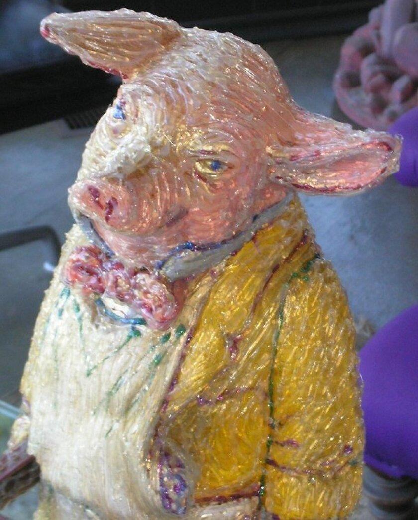 Bottomless Pit (detail) sculpture by Patricia Frischer