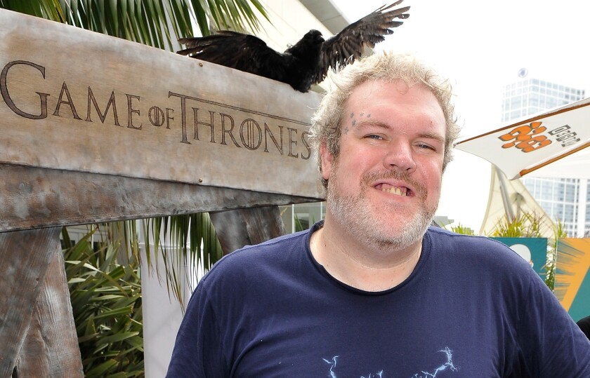"Kristian Nairn, who plays Hodor in ""Game of Thrones,"" confirms he's gay."