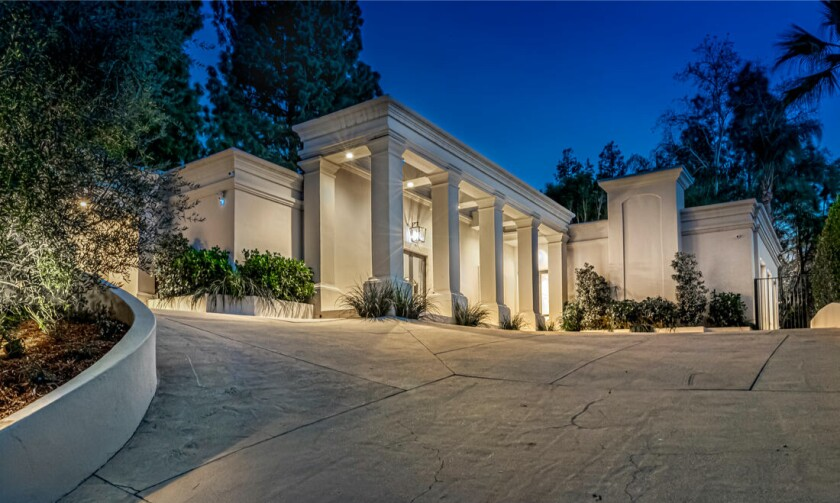 Exterior view of a Beverly Hills villa