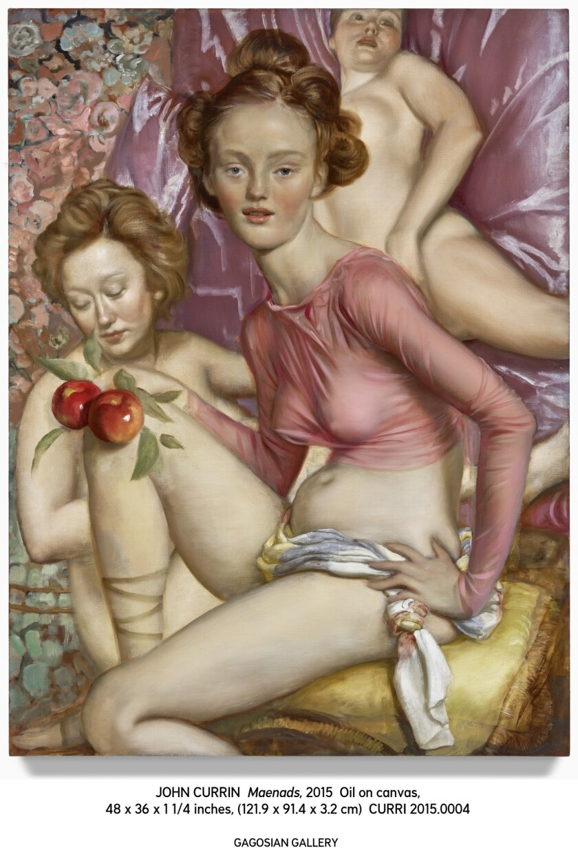 "John Currin's ""Maenads"" (2015), oil on canvas, 48 x 36 inches."