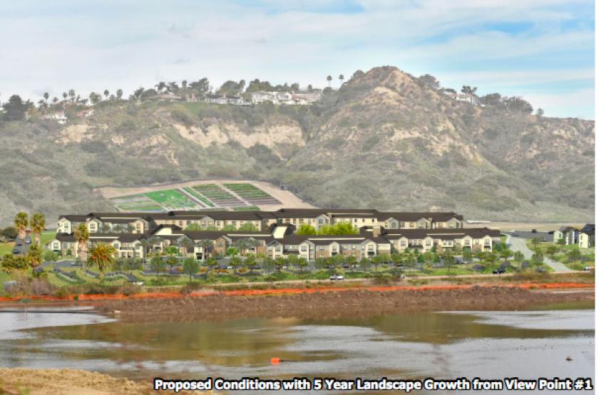 Belmont Village, a proposed new senior living community on the San Elijo Lagoon.