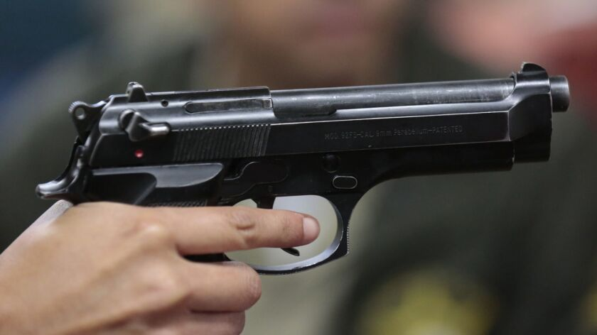 The Beretta used to be the standard issue handgun for Los Angeles County sheriff's deputies.