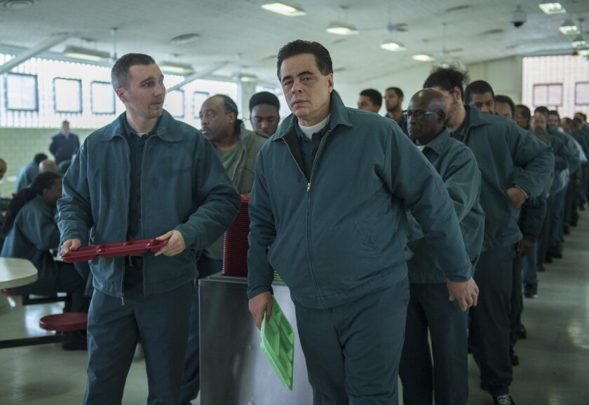 Paul Dano and Benicio Del Toro as prison inmates in 'Escape at Dannemora'