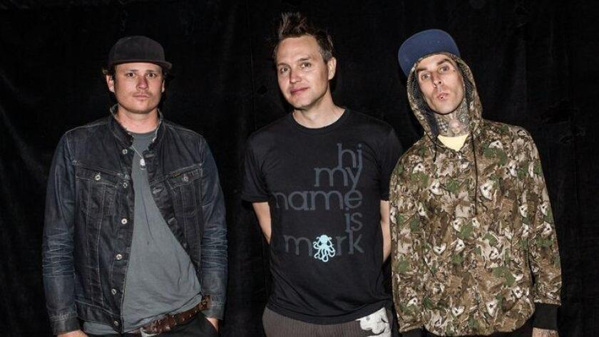 Blink 182 backstage before a concert at The Cosmopolitan in Las Vegas, September 2012. (/ Media Punch / Rex Features)