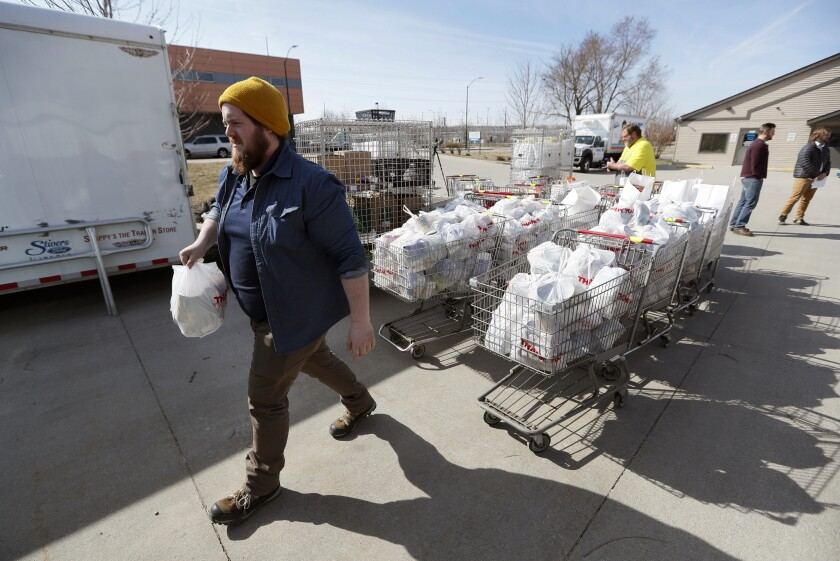 Food Banks Face Virus Dilemma More Demand Fewer Volunteers The San Diego Union Tribune
