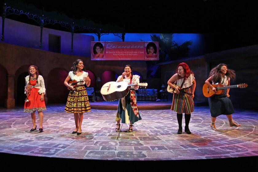"""Alicia Coca, Gabriela Carrillo, Luzma Ortiz, Marlene Montes and Satya Jnani Chavez in """"American Mariachi."""""""