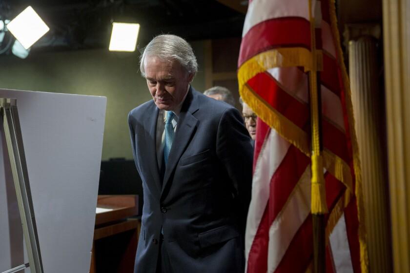 Sen. Edward J. Markey's request to speak on his amendment to the Keystone XL pipeline bill was denied.
