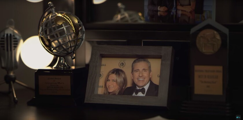 "Jennifer Aniston and Steve Carell in Apple TV+'s ""The Morning Show"""