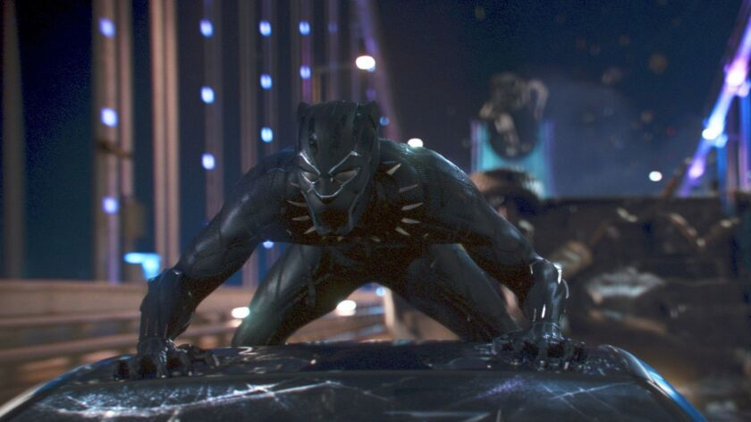 "This image released by Disney shows a scene from Marvel Studios' ""Black Panther."" On Tuesday, Jan. 2"
