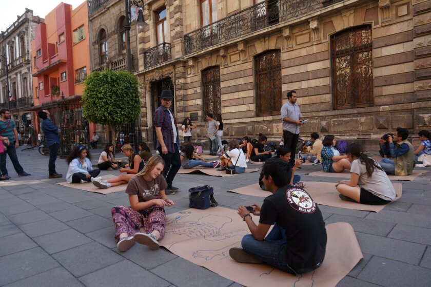 Teens from a binational arts program run by the Museum of Contemporary Art San Diego and Museo Tamayo take to the streets to work collaboratively in the midst of the hustle and bustle of Mexico City.