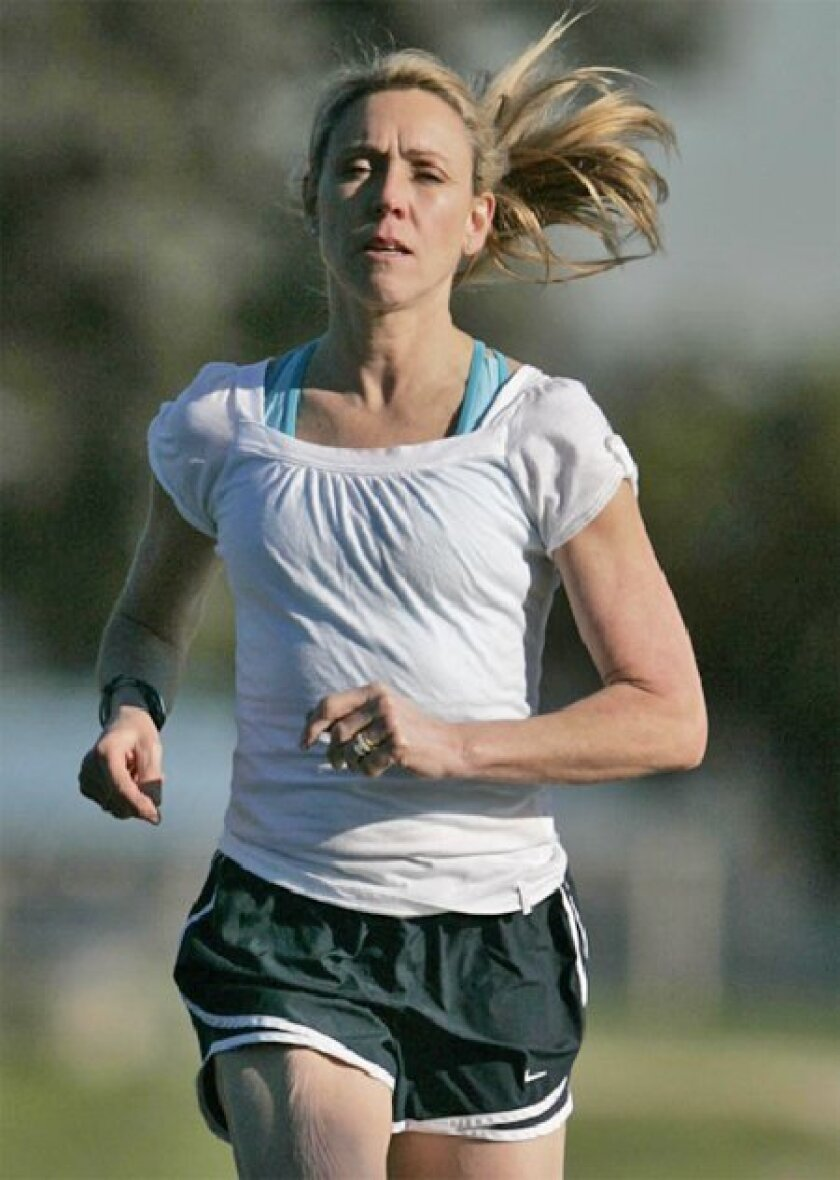 Mary Slaney, in town to be honored by 