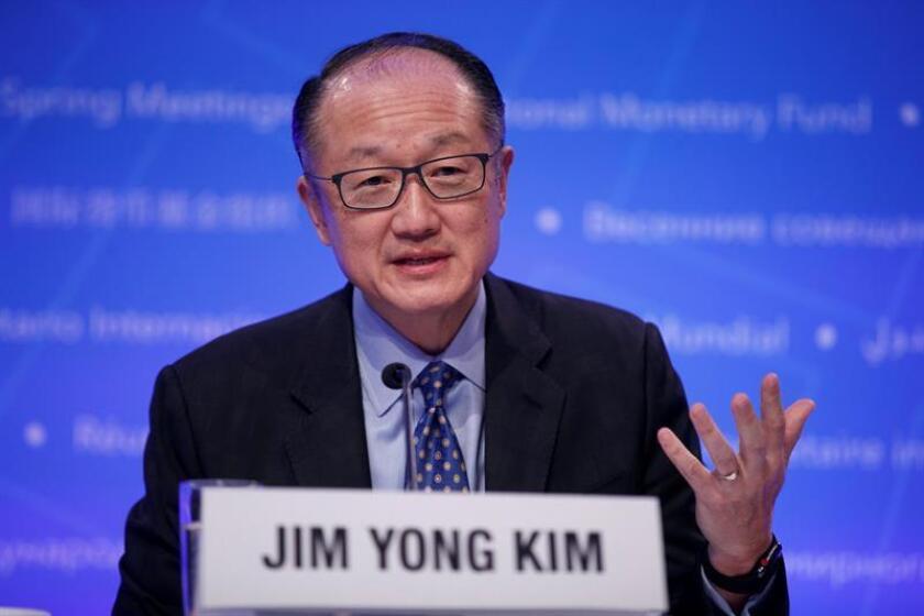 El presidente del Banco Mundial, Jim Yong Kim, ofrece una conferencia de prensa. EFE/Archivo