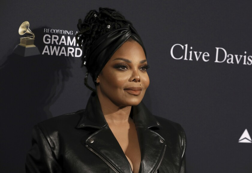 Janet Jackson at a pre-Grammy party in January 2020