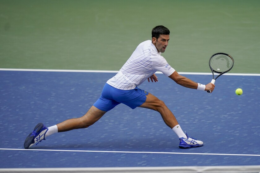 U S Open Novak Djokovic Out After Hitting Line Judge With Ball The San Diego Union Tribune
