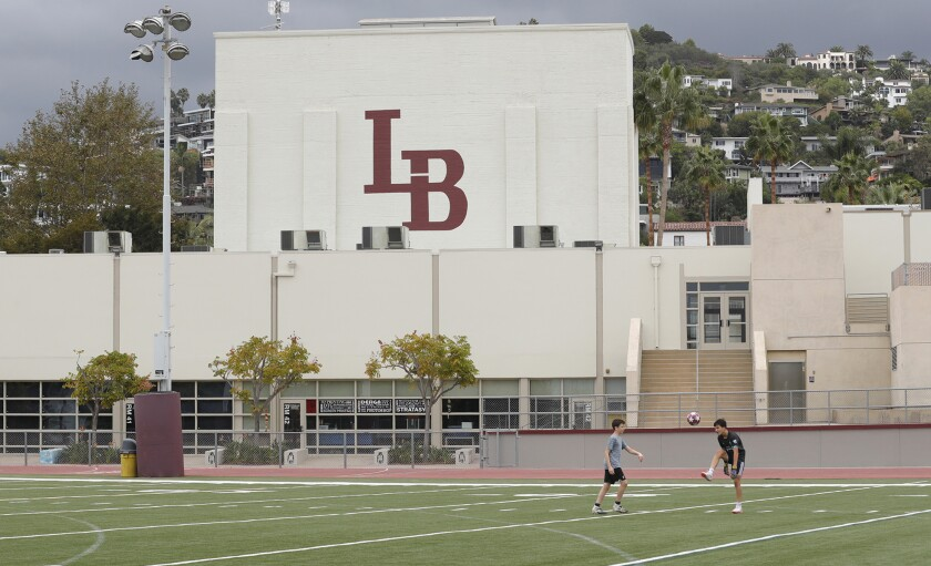 The Laguna Beach Unified School District has plans to reopen its secondary schools when Orange County enters the red tier.