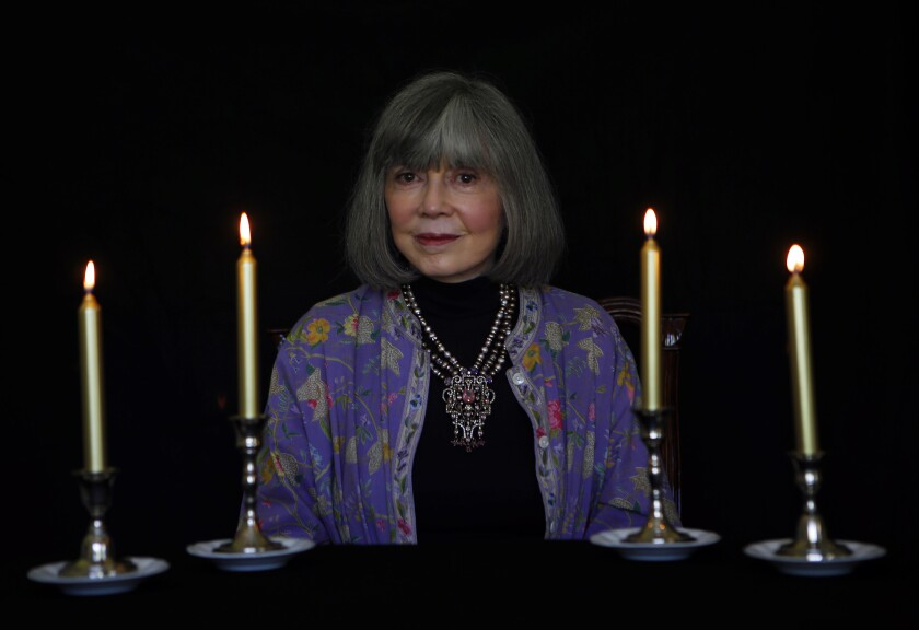 Author Anne Rice at her home in Palm Desert.