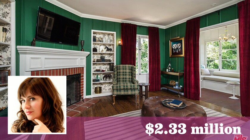 """The """"New Girl"""" actress sold her bucolic home in Hollywood Hills for above the asking price."""