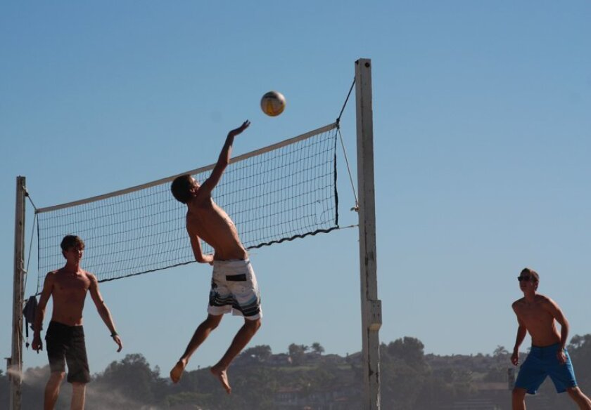Volleyball players reveled in the heat Wednesday in Carlsbad.
