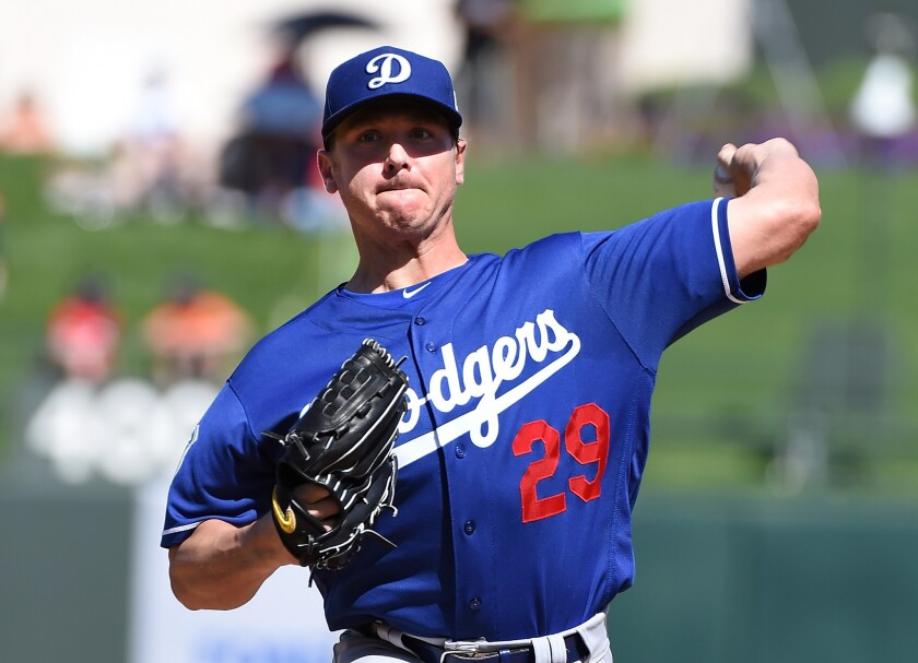 Dodgers' Scott Kazmir gives up two runs in spring training start against the Rangers