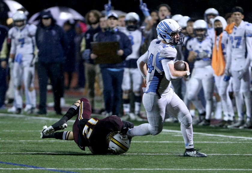 Crescenta Valley High football player Sebastian DeLeon was named the All-CIF Southern Section Division X Offensive Player of the Year.