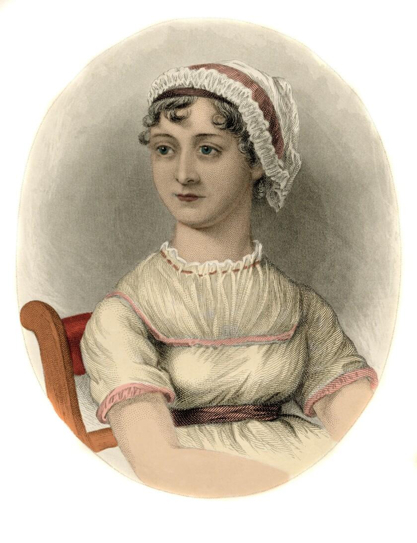 A portrait of English writer Jane Austen.