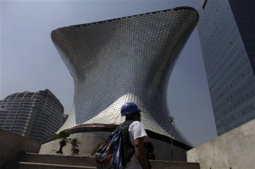 Architect Fernando Romero designed the new Soumaya Museum in Mexico City, seen here shortly before its March 2011 opening.