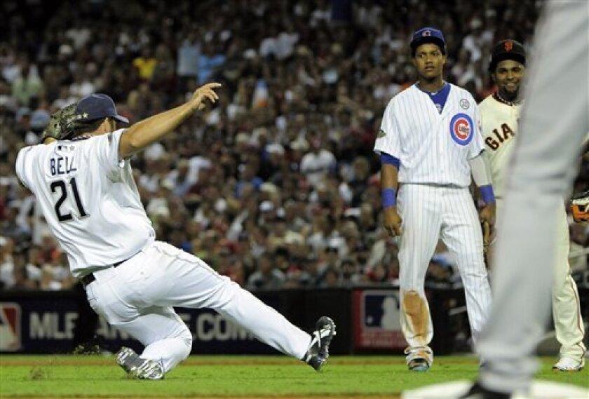 2011: Heath Bell slides into mound